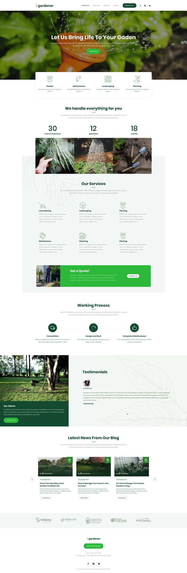 Gardener Homepage