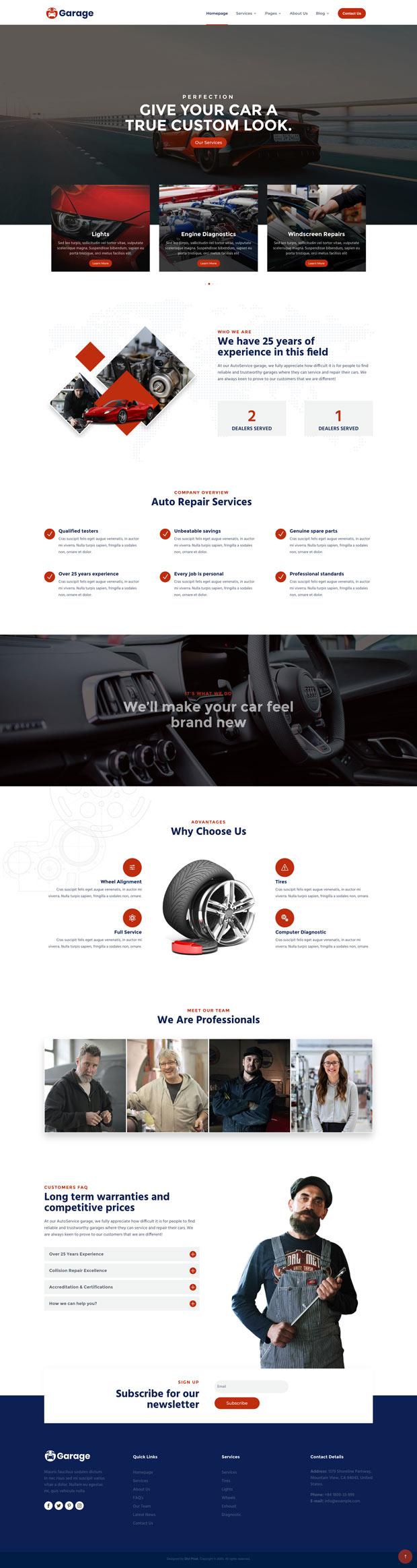 Garage Homepage