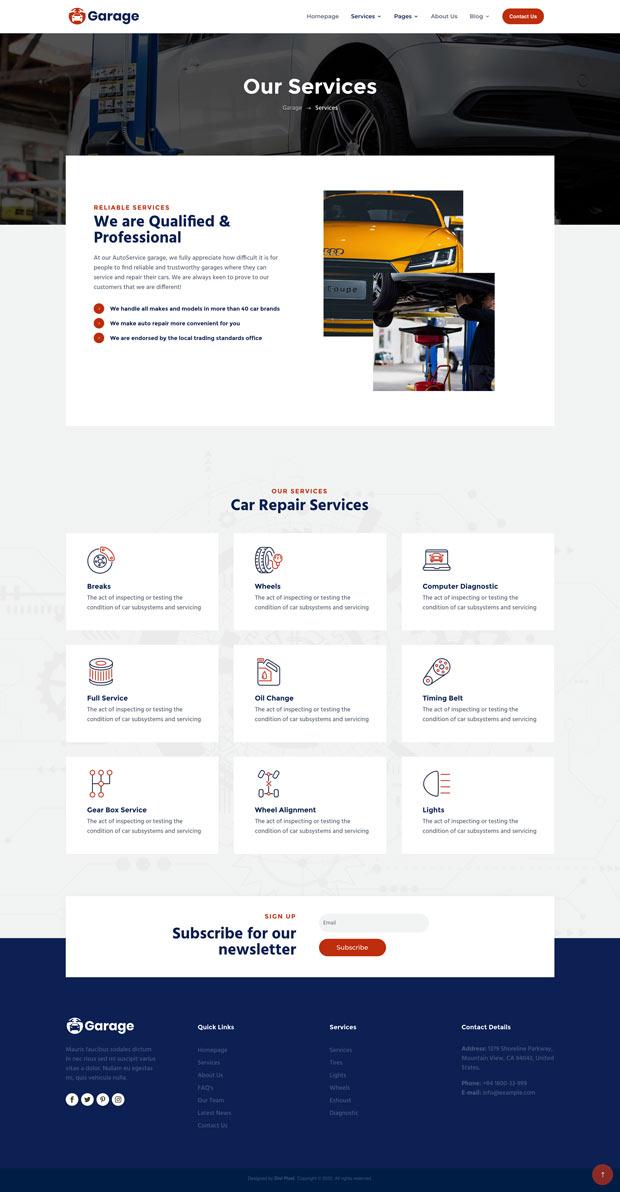 Garage Services Page v1