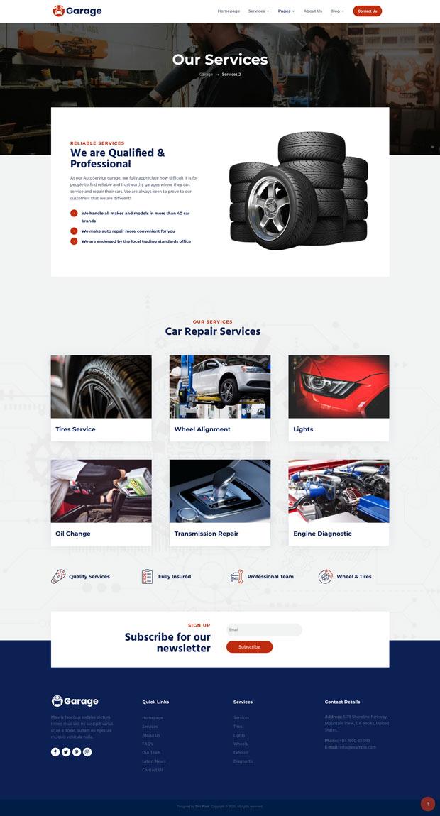 Garage Services Page v2