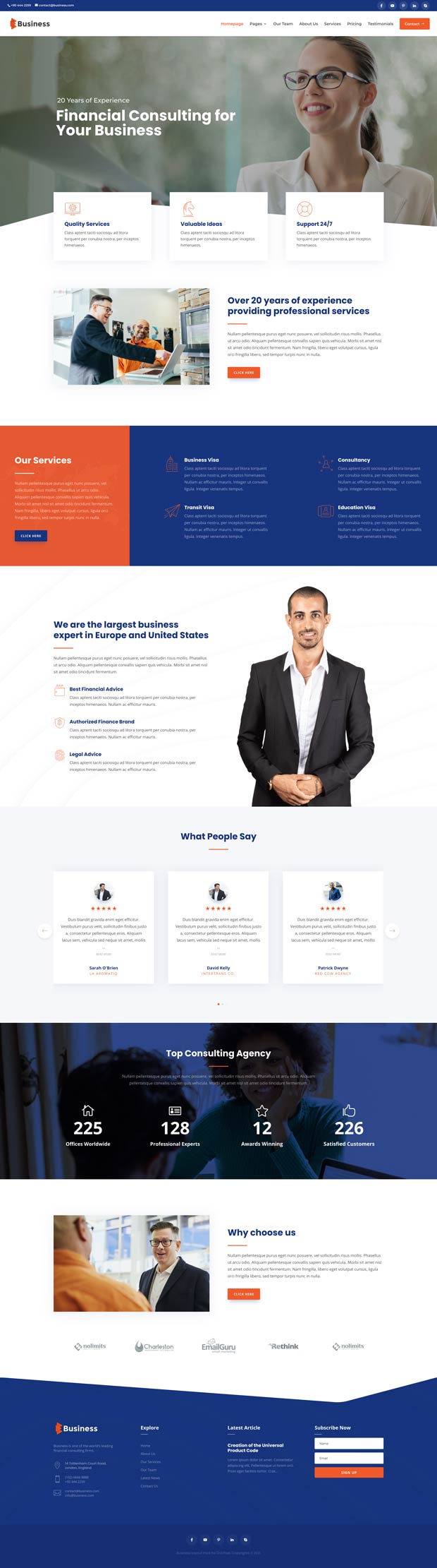 Business Layout Pack Homepage