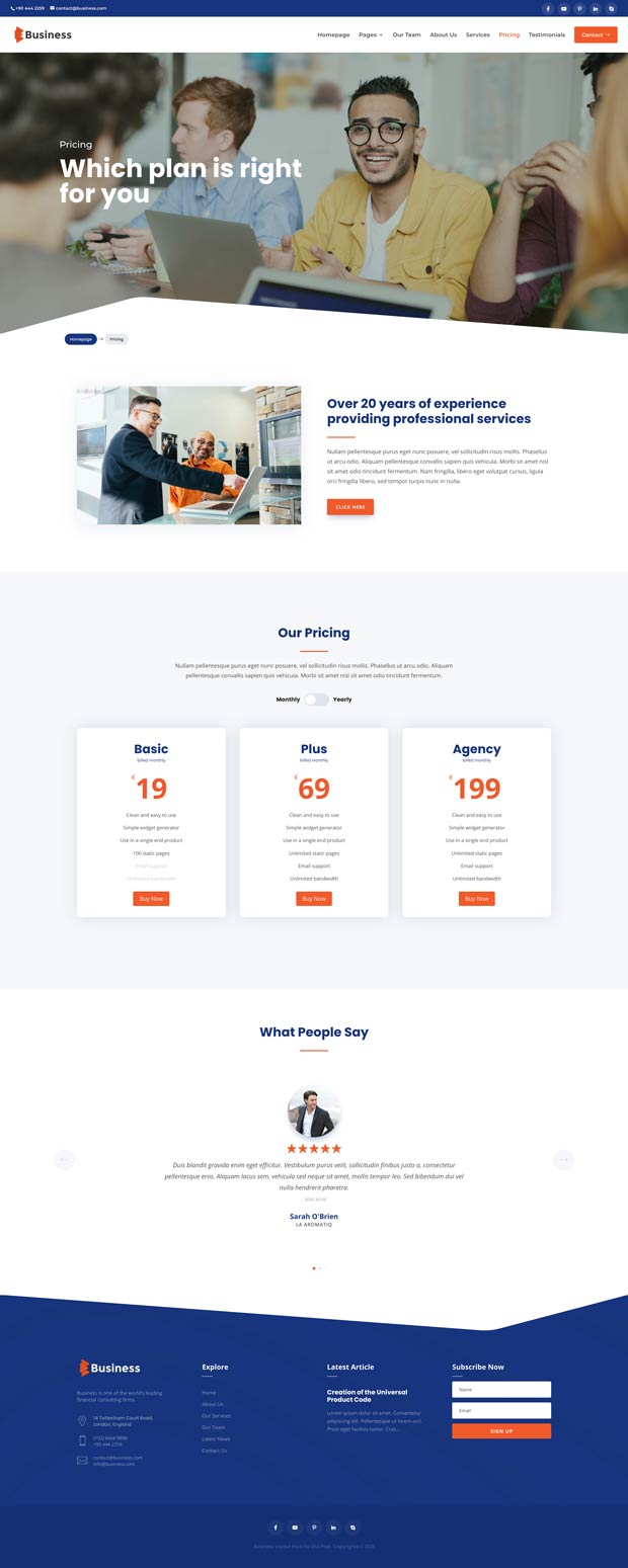 Business Layout Pack Pricing