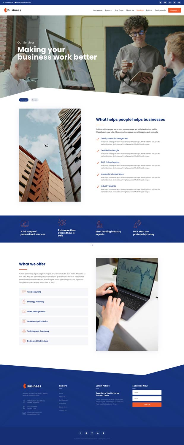 Business Layout Pack Services