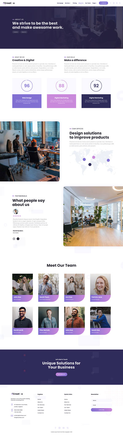 Creative Layout Pack About Us