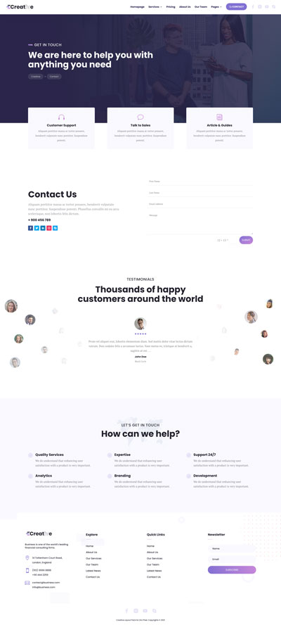 Creative Layout Pack Contact