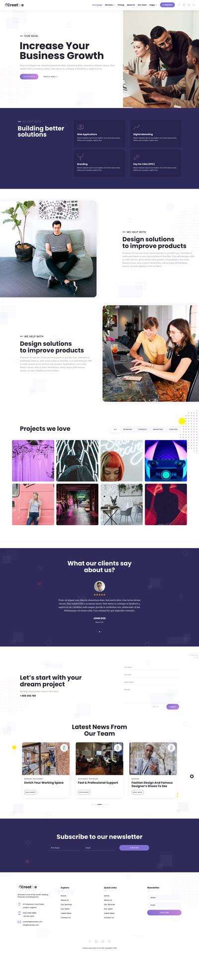 Creative Layout Pack Homepage