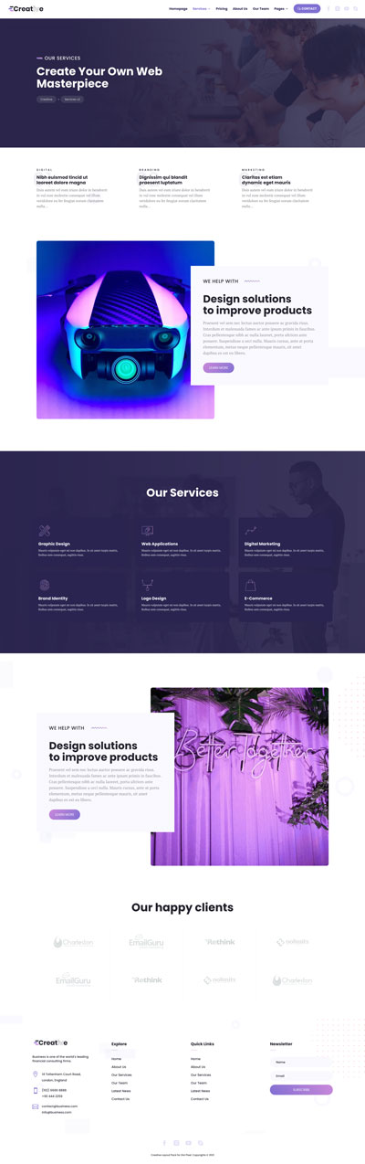 Creative Layout Pack Services Page v2