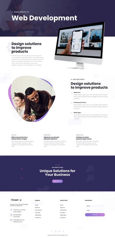 Creative Layout Pack Single Service v2