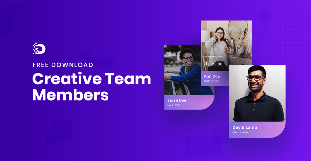 Download FREE Team Members Section for Divi