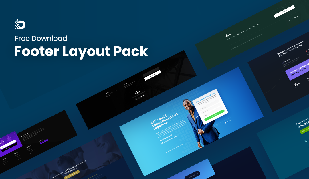 Download A FREE Footer Layout Pack for Divi